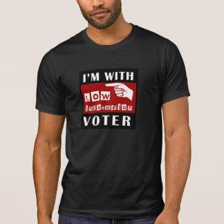 Camiseta Eu sou com o baixo t-shirt do eleitor da