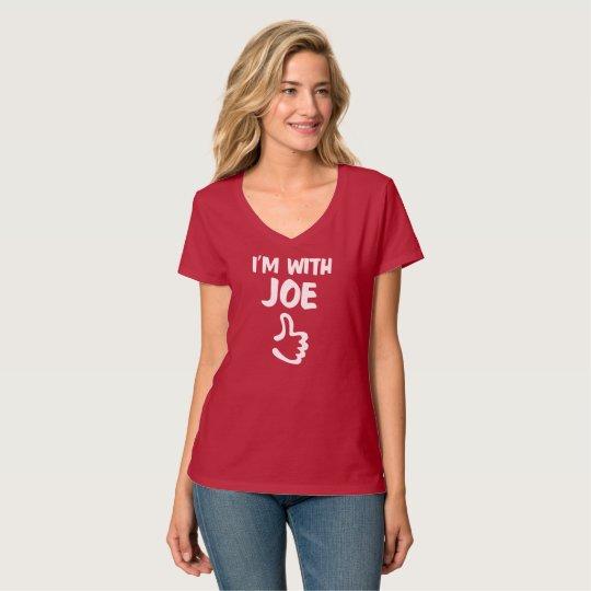 Camiseta Eu sou com o t-shirt Nano do V-Pescoço das