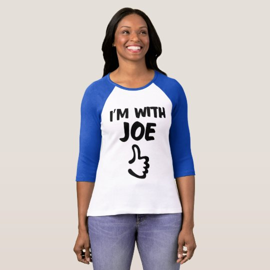 Camiseta Eu sou com o tshirt do Raglan das mulheres de Joe