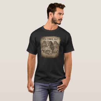 """Camiseta """"Eu sou coruja"""" no jogador de póquer engraçado"""