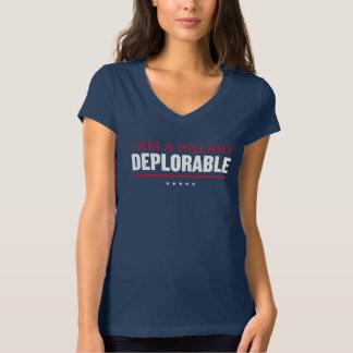 """Camiseta """"Eu sou das mulheres deploráveis do trunfo de uma"""