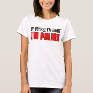Camiseta Eu sou direito que eu sou polonês