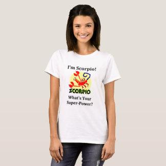 Camiseta Eu sou Escorpião   o que é seu poder super?