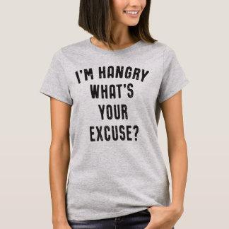 Camiseta Eu sou Hangry o que é sua desculpa engraçada