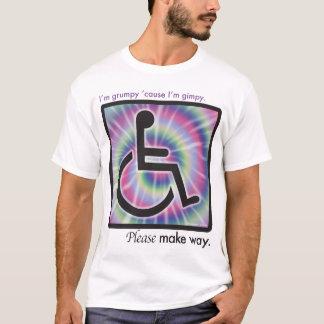 Camiseta Eu sou mal-humorado porque eu sou t-shirt gimpy