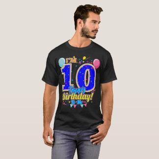 Camiseta Eu sou-me o feliz aniversario 10 um presente legal