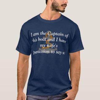 Camiseta Eu sou o capitão deste t-shirt do barco