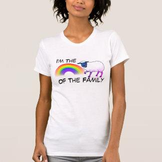 """Camiseta """"Eu sou o carneiro do arco-íris da família """""""