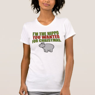 Camiseta Eu sou o hipopótamo que você quis para o Natal