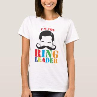 Camiseta Eu sou o LÍDER de ANEL com o bigode masculino do