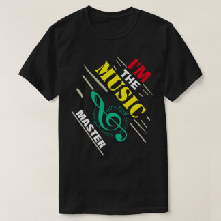Camiseta Eu sou o mestre da música