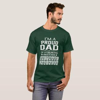 Camiseta Eu sou o PAI ORGULHOSO da SOFTWARE ENGINEER