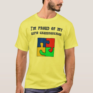 Camiseta Eu sou orgulhoso de minha neta de Aspie