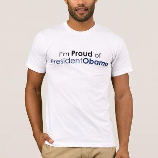 Camiseta Eu sou orgulhoso do presidente Obama (o t-shirt