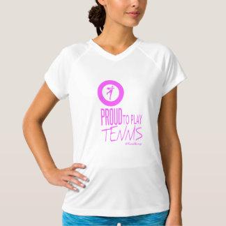 Camiseta Eu sou orgulhoso jogar o tênis
