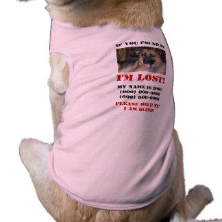 Camiseta Eu sou perdido! Cão cego