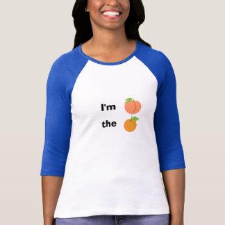Camiseta Eu sou pêssego a laranja