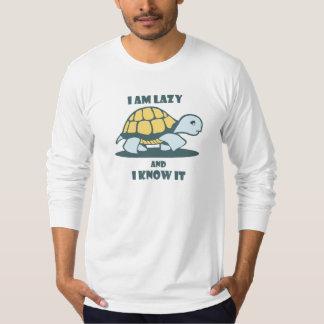 Camiseta Eu sou preguiçoso e eu sei que imprimiu o t-shirt