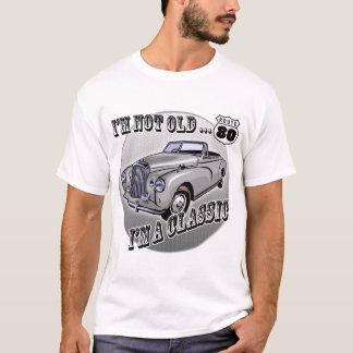 Camiseta Eu sou presentes de aniversário do 80 do clássico