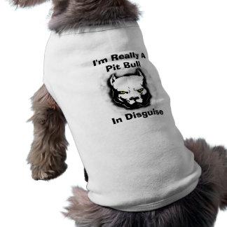 Camiseta Eu sou realmente um pitbull no disfarce