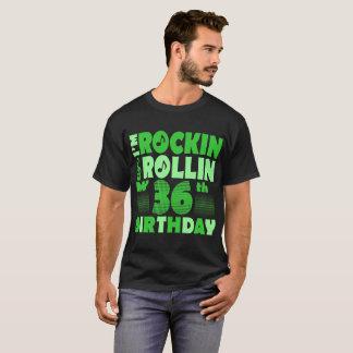 Camiseta Eu sou Rockin e Rollin meu 36th Tshirt do