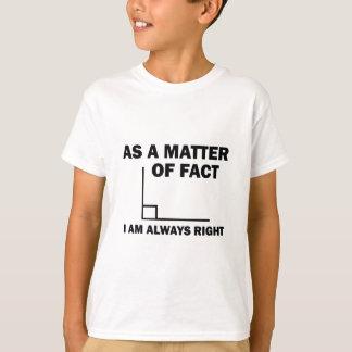 Camiseta Eu sou sempre direito