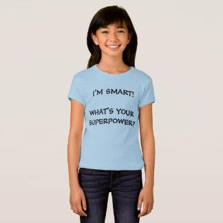 Camiseta Eu sou t-shirt da boneca das meninas espertas da