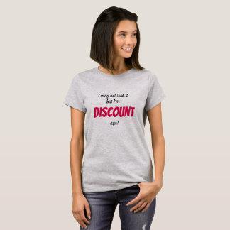 Camiseta Eu sou t-shirt dos mais velho da idade do disconto