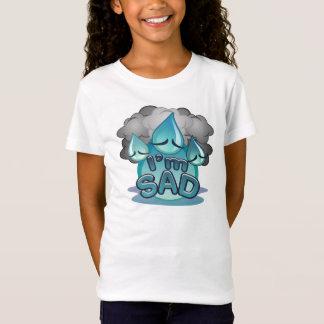 Camiseta Eu sou t-shirt triste do branco das meninas