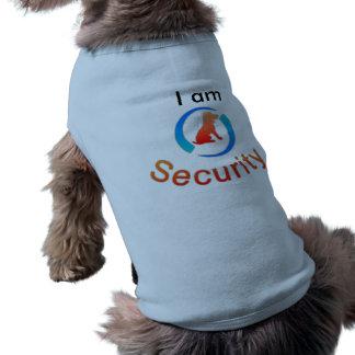 Camiseta Eu sou traje do cão da segurança