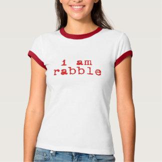 Camiseta Eu sou turbulento e eu sou campainha estimulada
