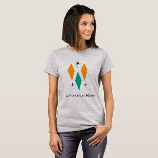 Camiseta Eu sou turquesa moderna da laranja dos diamantes