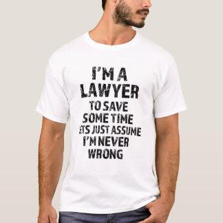 Camiseta Eu sou um advogado, deixo apenas para supr-me sou