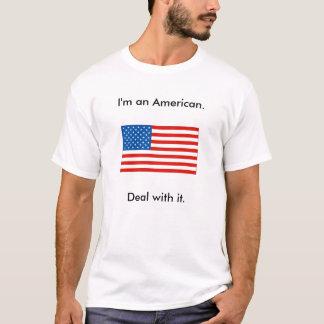 Camiseta Eu sou um americano. Negócio com ele