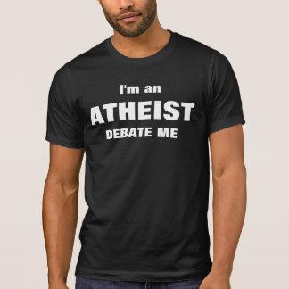 Camiseta Eu sou um ateu debato-me