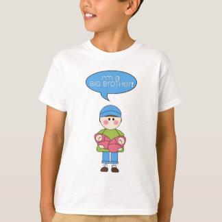 Camiseta eu sou um big brother! (irmãs gêmeas)