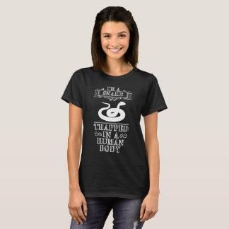 Camiseta Eu sou um cobra prendido em um fã do réptil do