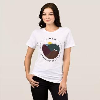Camiseta Eu sou um com as montanhas