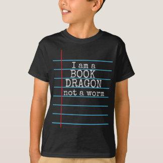 """Camiseta """"Eu sou um DRAGÃO do LIVRO não o conselho de giz"""