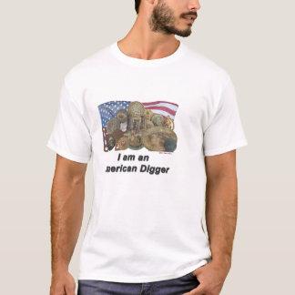 Camiseta Eu sou um escavador americano