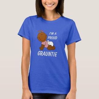 """Camiseta """"Eu sou um Grauntie orgulhoso"""" com bebê bonito"""