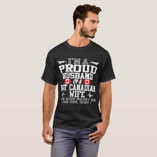 Camiseta Eu sou UM MARIDO ORGULHOSO DE UMA ESPOSA CANADENSE