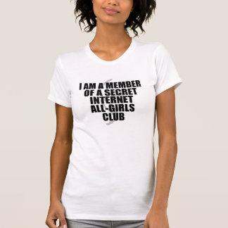 Camiseta Eu sou um membro de um clube das Todo-Meninas do