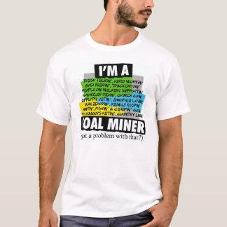 Camiseta Eu sou UM MINEIRO de CARVÃO