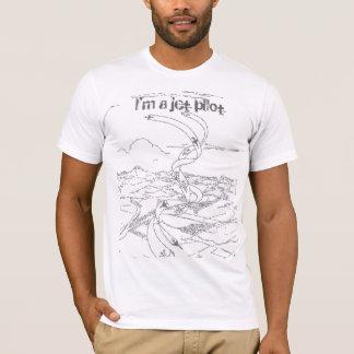 Camiseta Eu sou um piloto de jato