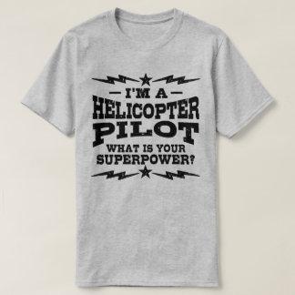 Camiseta Eu sou um piloto do helicóptero o que é sua