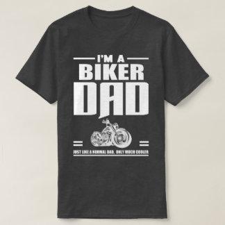 Camiseta Eu sou um presente dos pais do PAI do motociclista