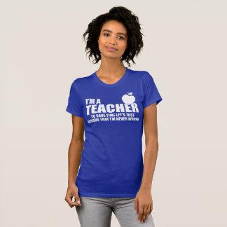 Camiseta eu sou um professor