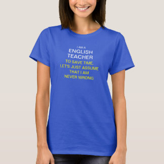 Camiseta Eu sou um professor de inglês para ganhar o tempo,