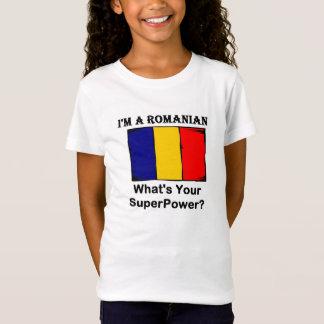Camiseta Eu sou um Romanian, o que sou sua superpotência?